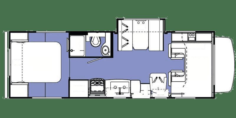 2016 Forest River Sunseeker 2650S Floor Plan