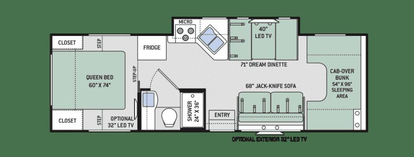 2017 Thor Chateau 28Z Floor Plan