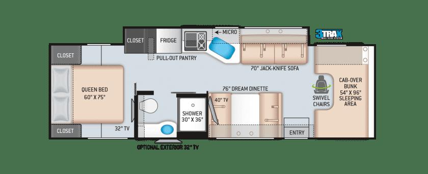 2020 Thor Chateau 31Y Floor Plan