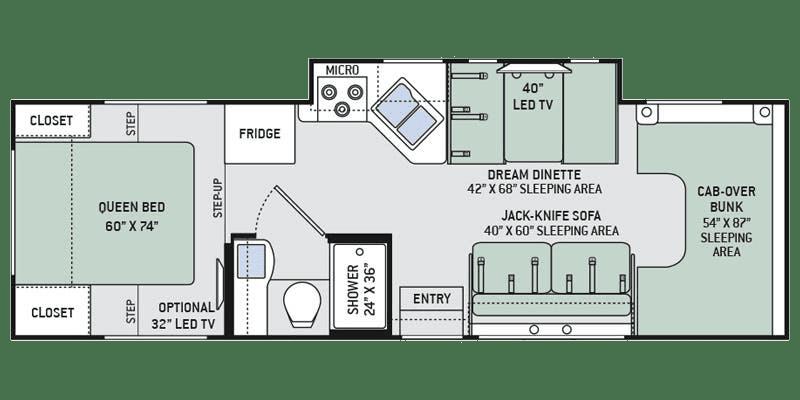 2019 Thor Chateau 28Z Floor Plan