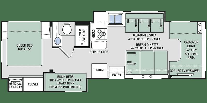 2019 Thor Chateau 30D Floor Plan