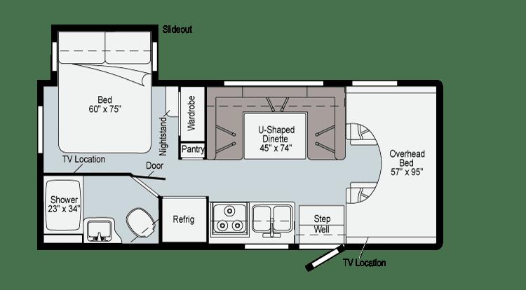 2021 Winnebago Minnie Winnie 22M Floor Plan