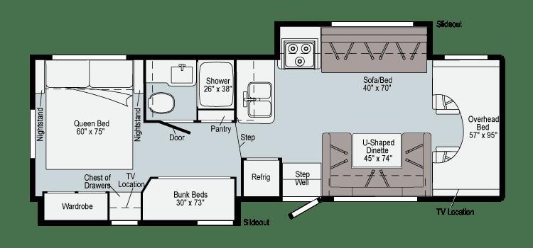 2021 Winnebago Minnie Winnie 31H Floor Plan