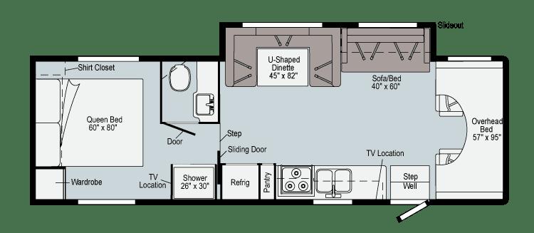 2021 Winnebago Minnie Winnie 31K Floor Plan