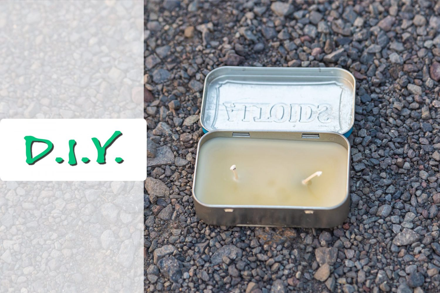 How to make your own portable camping candle