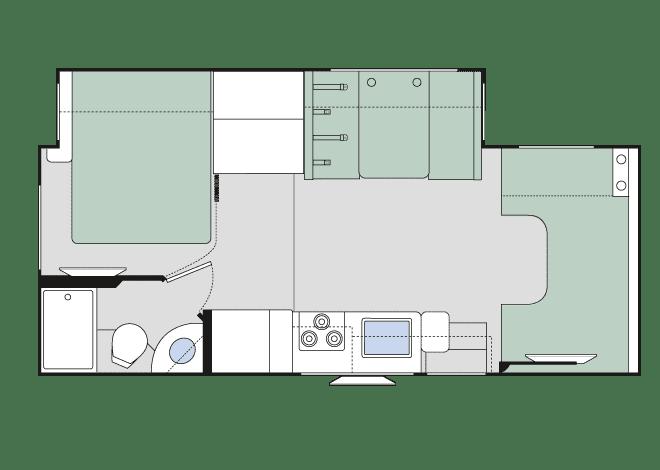 2019 Thor Chateau 24F Floor Plan
