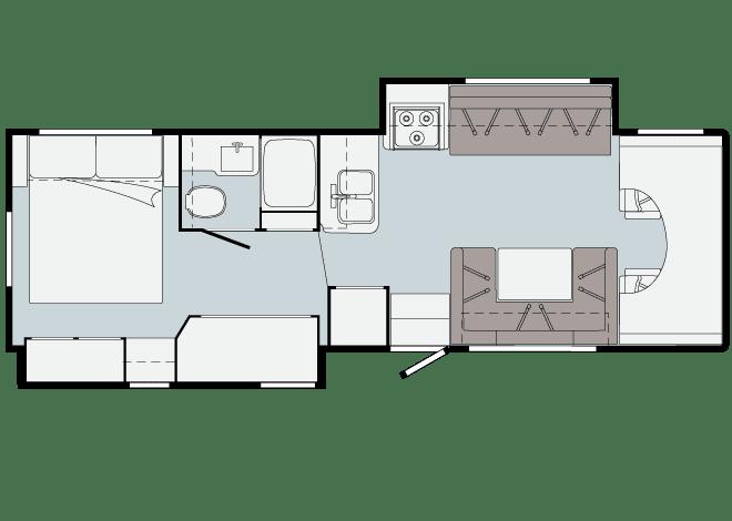 2021 Minnie Winnie 31H Floor Plan