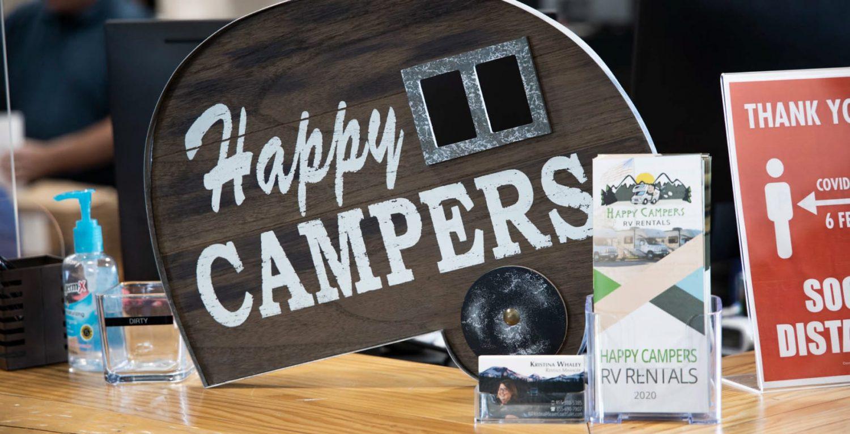 Happy Campers Desk Sign