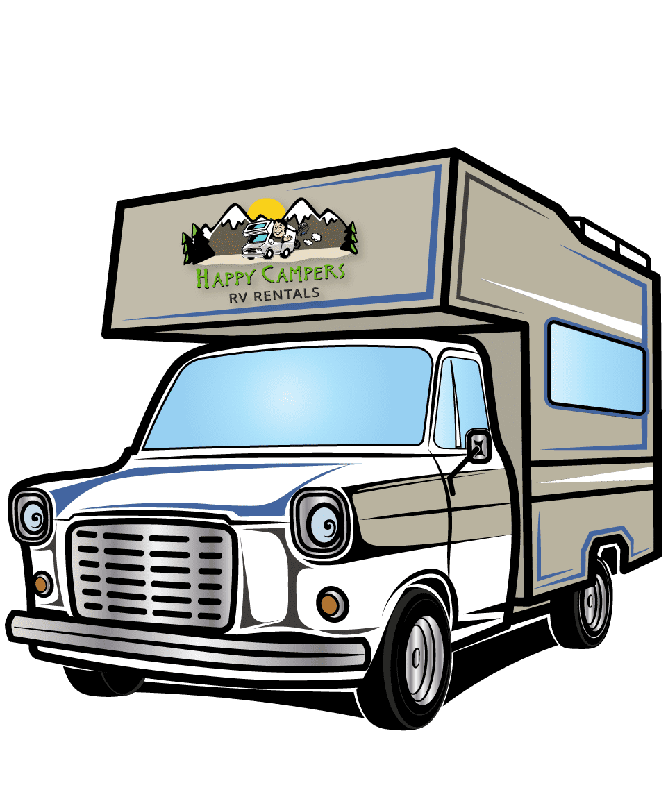 Happy Campers RV Graphic