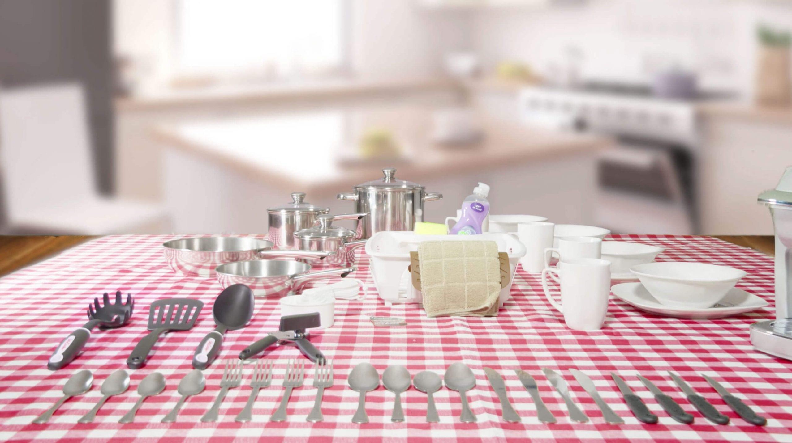 Kitchen Kit With All RV Rentals - Happy Campers RV Rentals