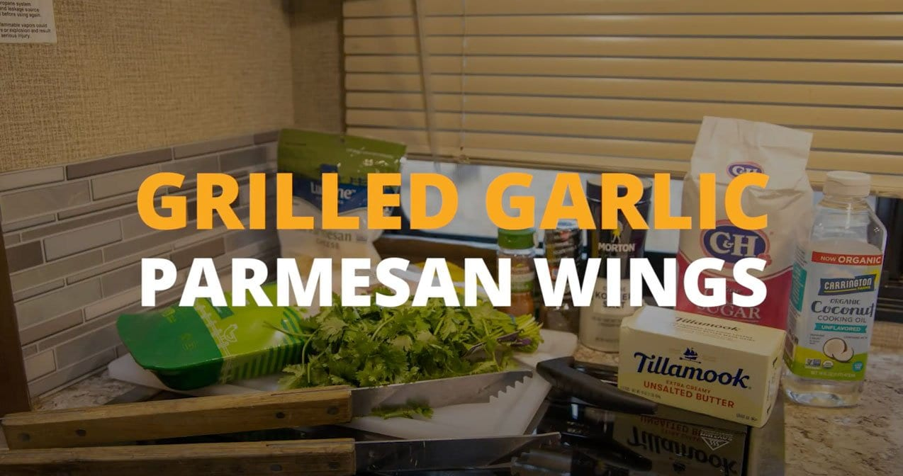 Grilled Garlic Parmesan Wings