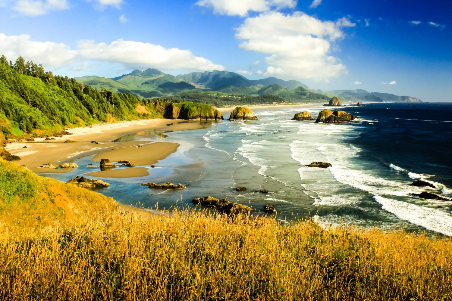Cannon Beach during golden hour