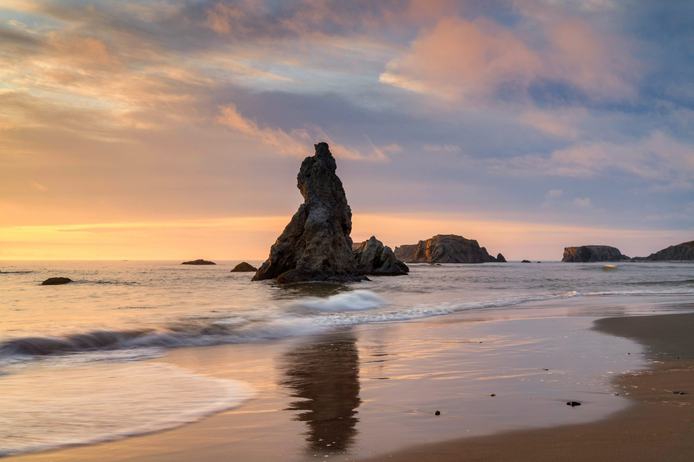 Beach Sunset at Bandon, Oregon