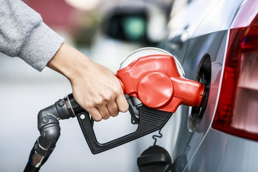 Gasoline prices for a trip in a car