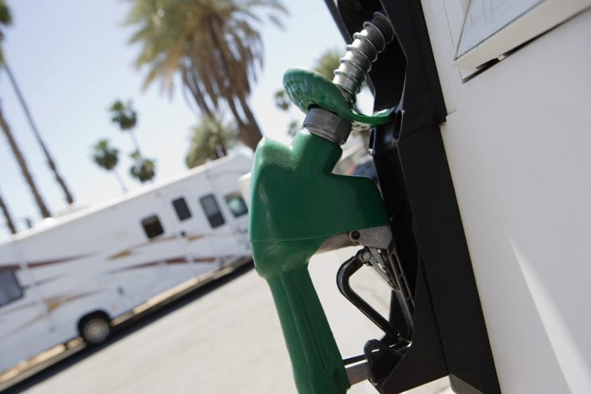 Gasoline prices for a trip in an RV