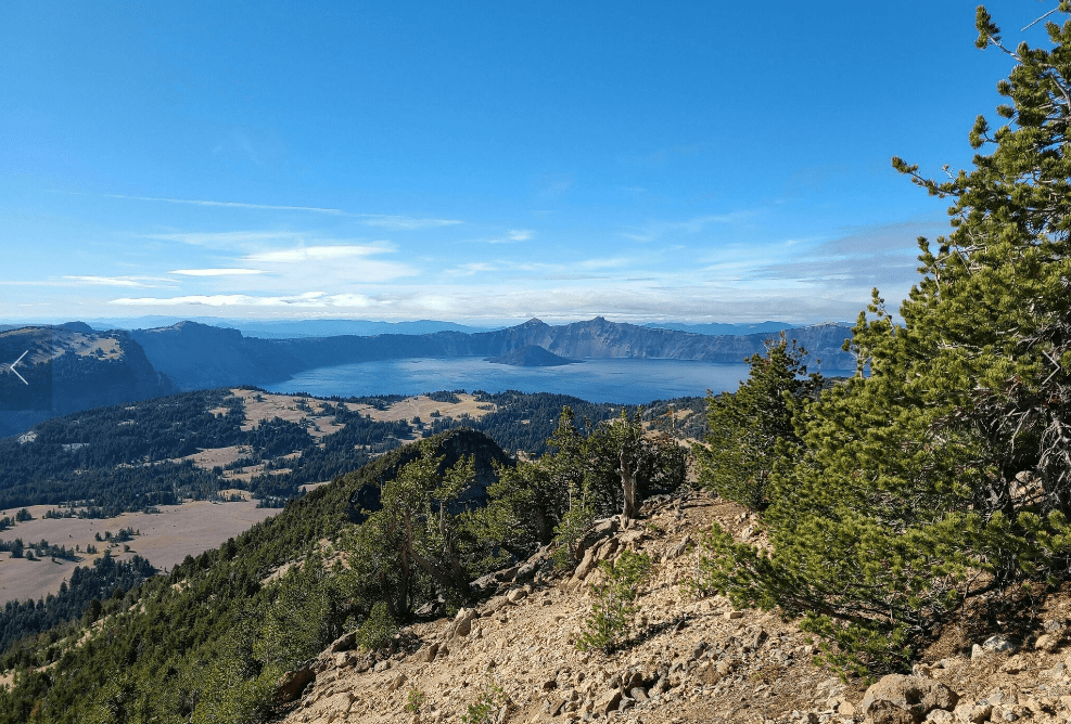 View from Mount Scott at Crater Lake National Park Oregon