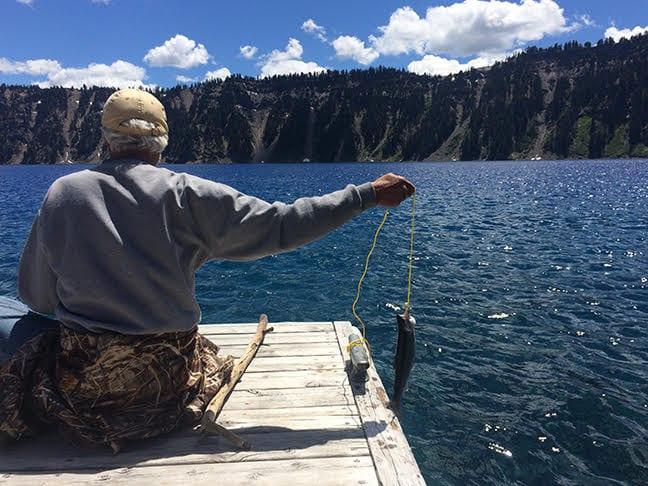 Fishing Crater Lake