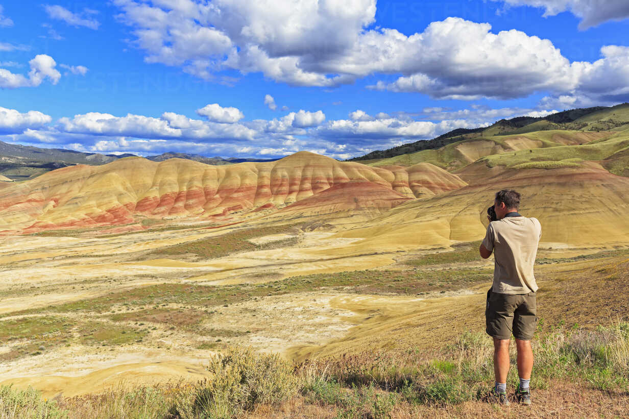 Photography of the painted hills in John Day Fossil Beds National Monument